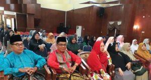 Ahmad Maritulius saat menghadiri acara Maulid Nabi SAW bersama warga IKDKK di Pendopo Sri Bunga Tanjung, Minggu (15/12/2019)