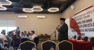 Ketua DPRD Dumai, Agus Purwanto, ST saat menyampaikan sambutan.