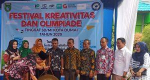 Walikota Dumai Zulkifli AS Buka Festival Kreativitas dan Olimpiade Tingkat SD/MI se-Kota Dumai