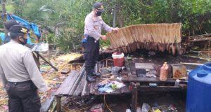 Kapolsek Batang Tuaka Carikan Kontrakan Buat Korban Puting Beliung