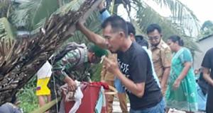 Puting Beliung Luluh Lantakkan Rumah Warga di Sungai Piring Batang Tuaka Inhil