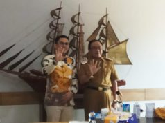 Anggota DPR RI Edwin Pratama Putra dan Bupati HM Wardan
