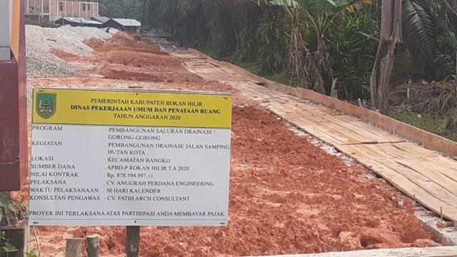 Proyek Drainase Samping Hutan Kota