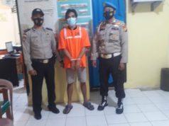 MS warga Kelurahan Terkul, Rupat Kabupaten Bengkalis diamankan Polsek Rupat(Foto: Tribunriau)